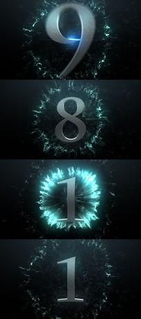 金属字10秒倒计时视频素材