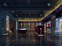 书画展展厅3d模型