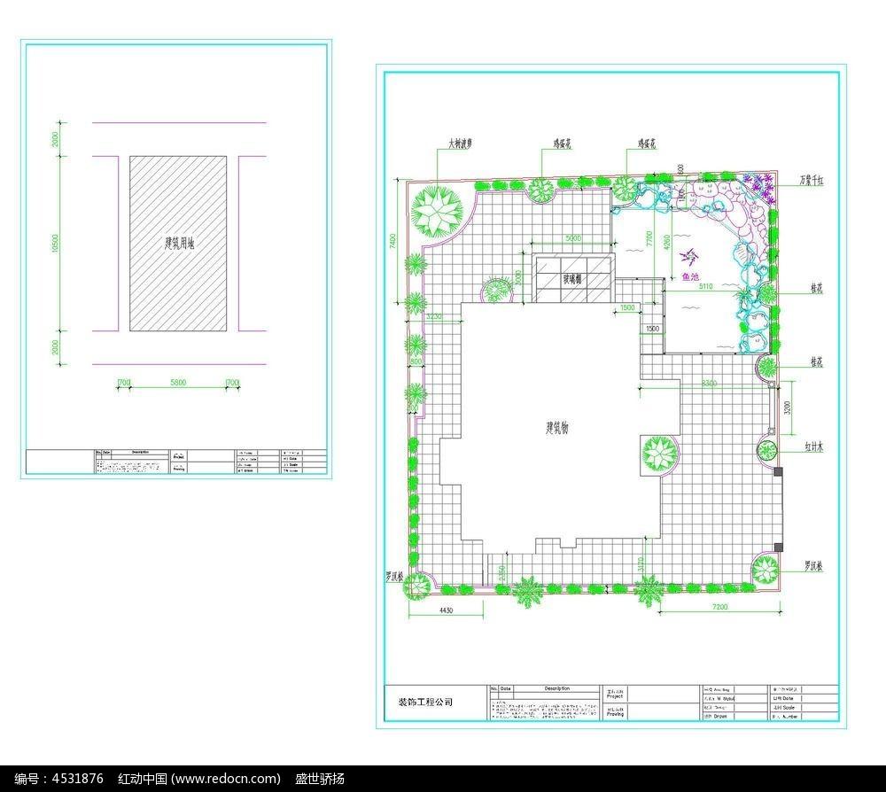 小别墅cad露台图纸dwg素材下载_室内装修设计图片__红