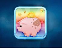 小猪icon存钱罐图标