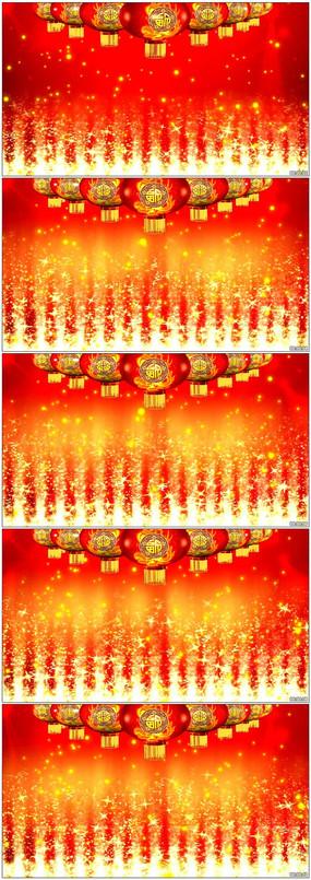 喜庆福字灯笼LED晚会视频素材