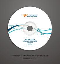 简约线条DVD光盘封面设计