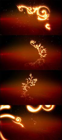 具有图腾意味的粒子图案迎面飞来视频素材