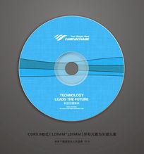 蓝色线条CD光盘封面设计