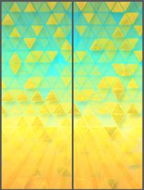 现代动感三角移门图案模板