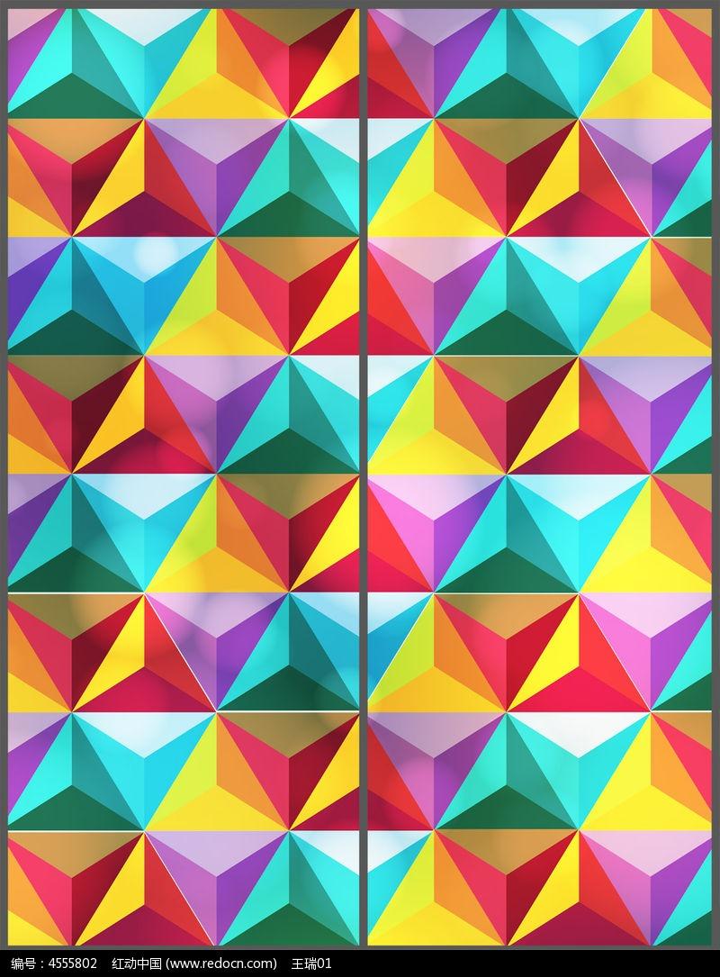 原创设计稿 装饰画/电视背景墙 移门图案 现代色彩几何移门图设计  请图片