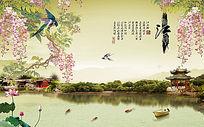 忆江南风景电视背景墙