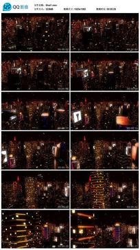 3D模拟led科幻都市夜景视频素材