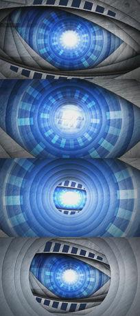 充满科技感的中心眼视频素材