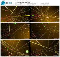 黄色粒子激光线条光效led模特演绎视频背景