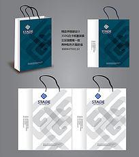 简约电子公司手提袋设计