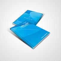 蓝色科技产品宣传册封面