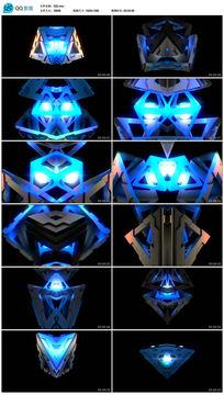蓝色科技动感金属led晚会背景视频