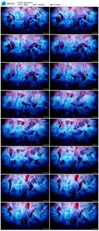 蓝色粒子云雾视频素材
