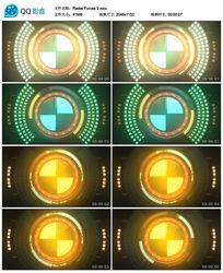 led转动圆环动感视频素材