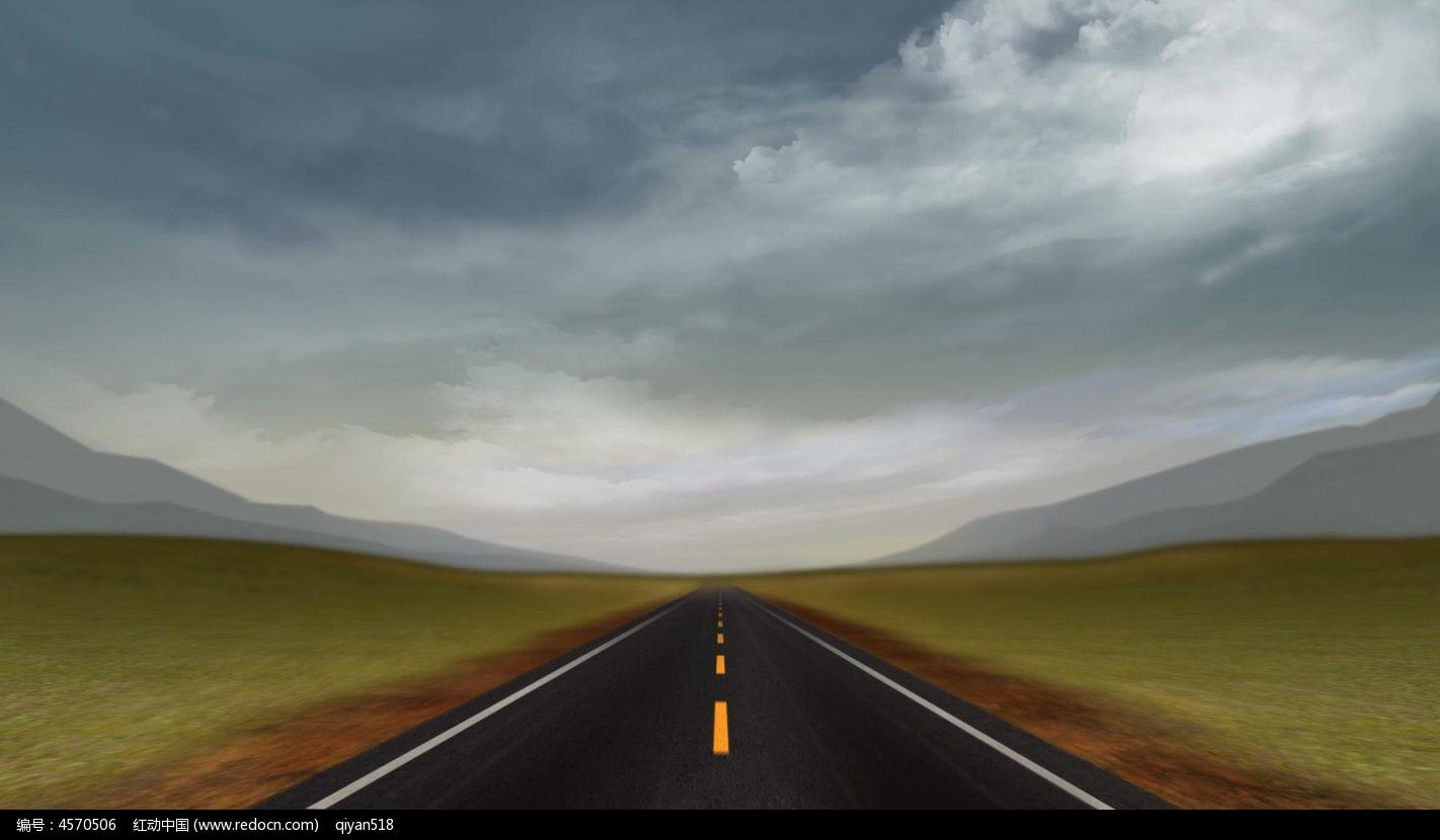 公路素材_无限延伸的公路视频素材