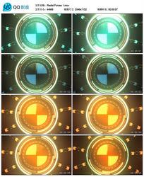 绚丽3D圆环动感视频背景视频素材