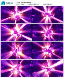 3D绚丽多边形光晕四射动感视频素材