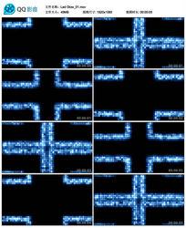 酒吧vj蓝色动感中心靠拢led矩阵灯大屏幕背景视频