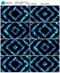 酒吧vj蓝色动感中心向两边运动led矩阵灯大屏幕背景视频