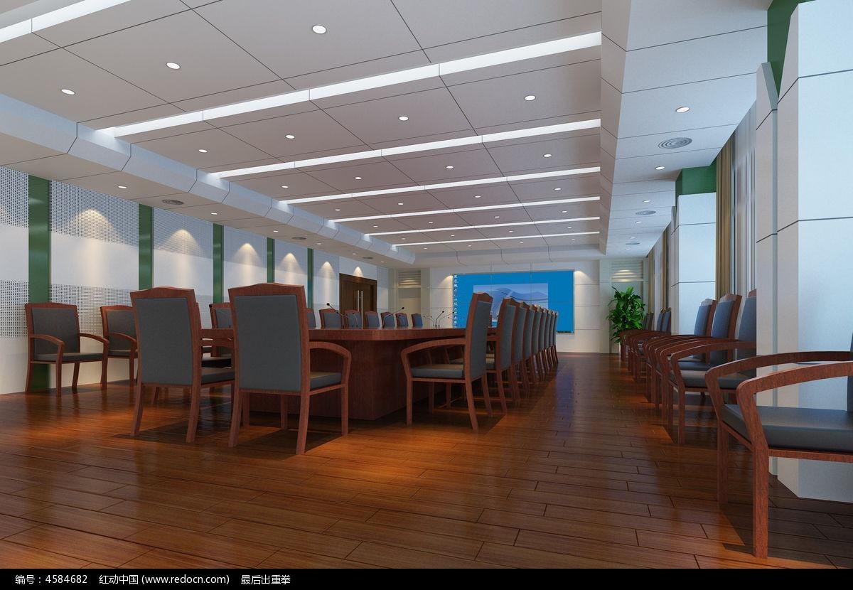 现代简约会议室3d模型