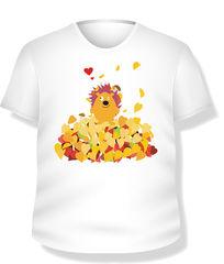 小刺猬T恤图案