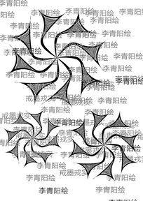 原创旋转花纹图案