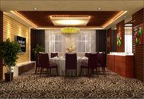 餐厅包间整体3d模型带贴图