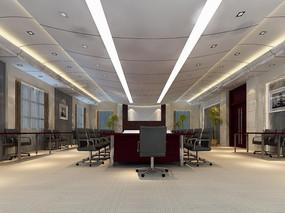 大型现代会议室3d模型