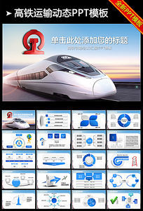 动车高铁铁路发展PPT图表