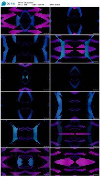动感劲爆彩色圆点大屏幕演绎背景视频素材