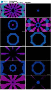 动感万花筒彩色圆点大屏幕演绎背景视频素材