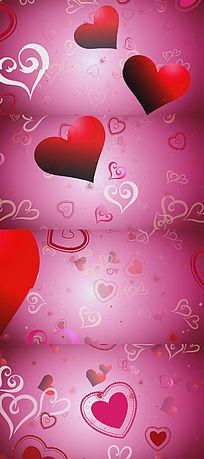 粉红色爱心背景视频素材