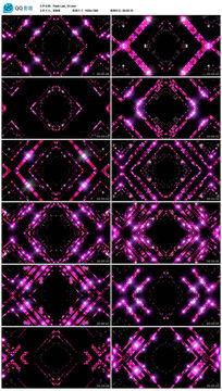 粉红色led矩阵灯方块运动大屏幕动感视频素材