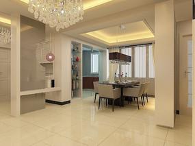 餐厅室内装修3D模型