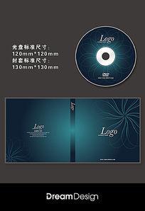 蓝色花朵光盘CD封套设计