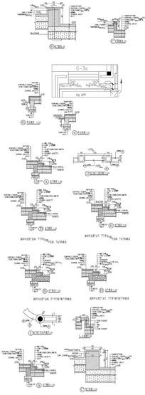 5款 水泥建筑CAD图纸设计素材下载