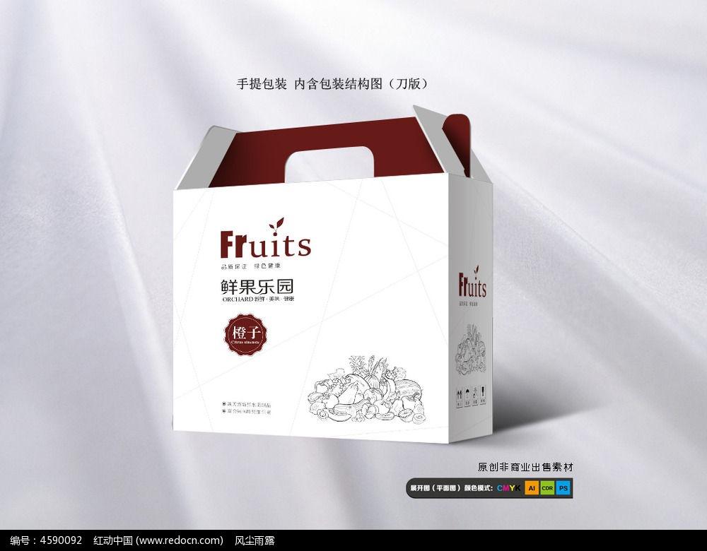 简洁水果通用包装箱设计
