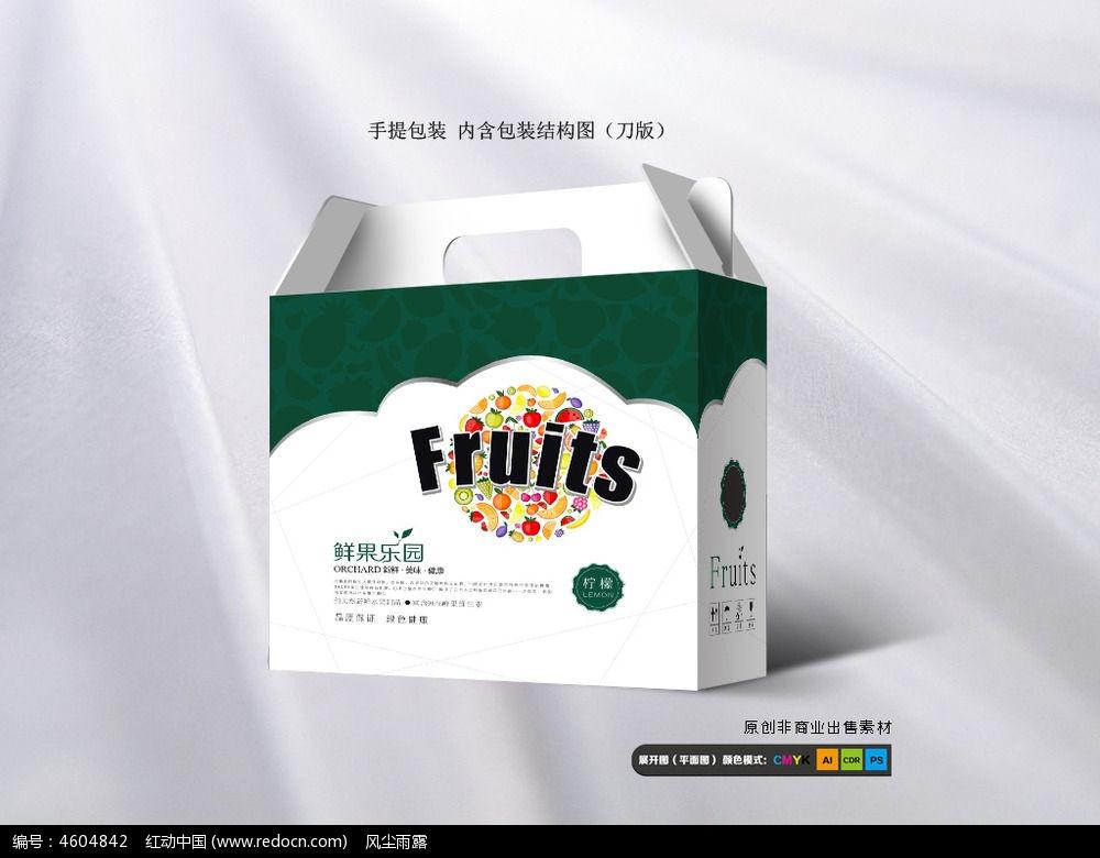 简约水果礼品包装箱cdr设计下载