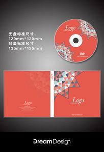 时尚几何图形光盘CD封套设计