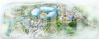 主题公园整体规划设计鸟瞰图