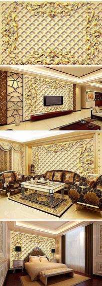 欧式风格电视背景墙模板