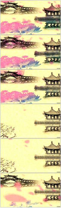 中国风水墨风景画视频