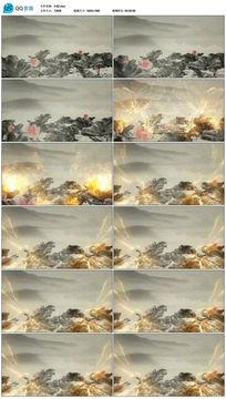 荷叶竹子唯美水墨中国风视频