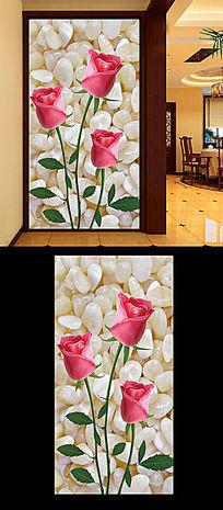 玫瑰花玄关装饰画