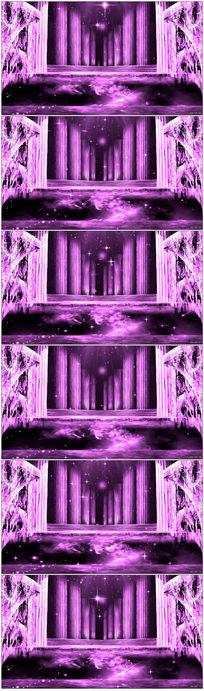 紫色梦幻教堂罗马柱LED背景视频