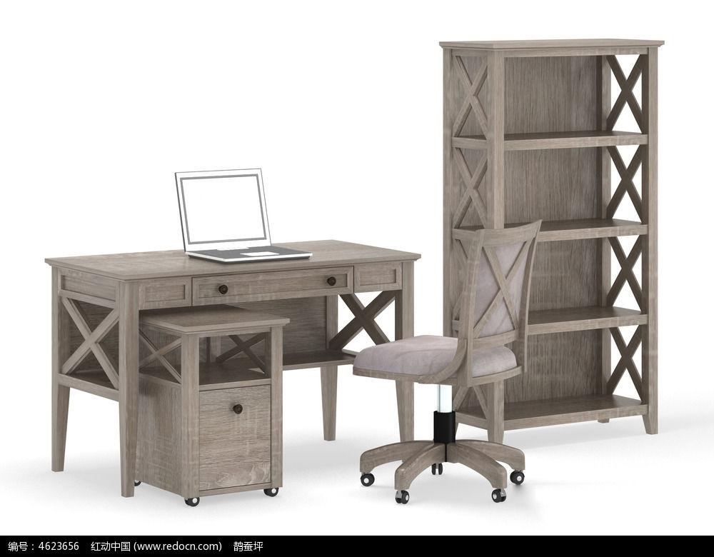 手绘办公桌效果图_室内设计