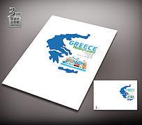 简约希腊旅游封面设计