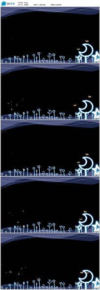 卡通星星月亮视频素材