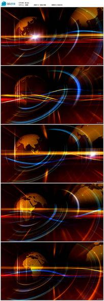 新闻地球视频素材